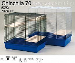 Клетка G-078 CHINCHILLA 70 COLOR (700х400х640)